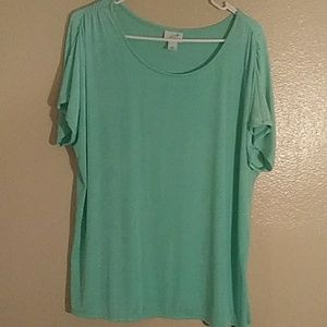☀SPECIAL☀.   xxlarge js teal blouse